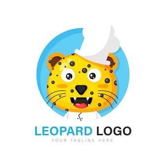 Diseño de logo de leopardo