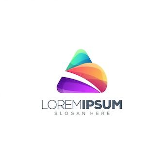 Diseño de logo de letra a colorido