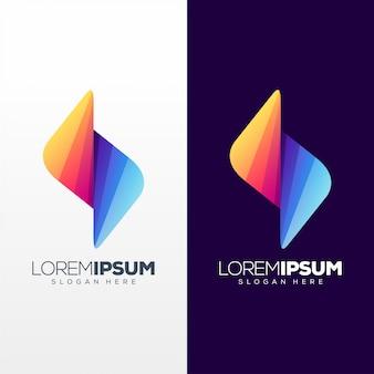 Diseño de logo de letra s colorido