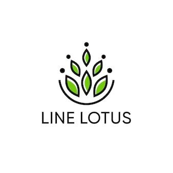 Diseño de logo de lotus para moda y boutique.