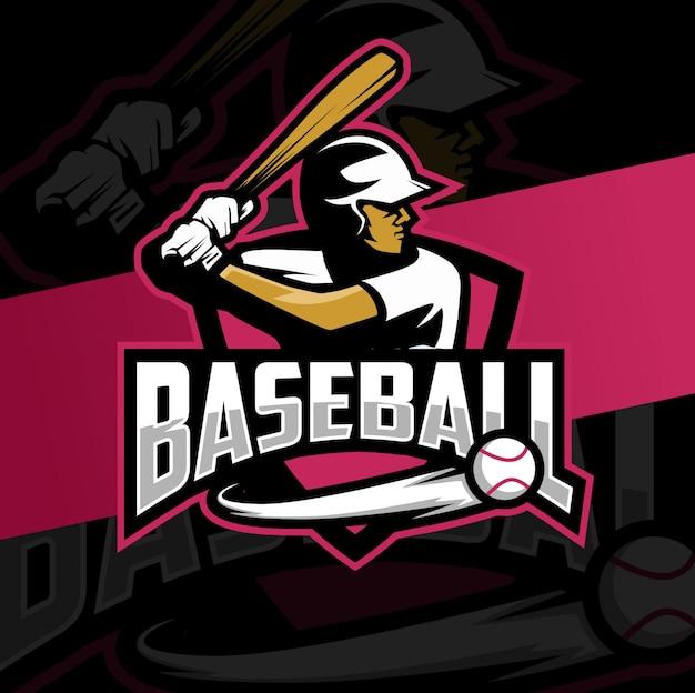 Diseño de logo de mascota de béisbol