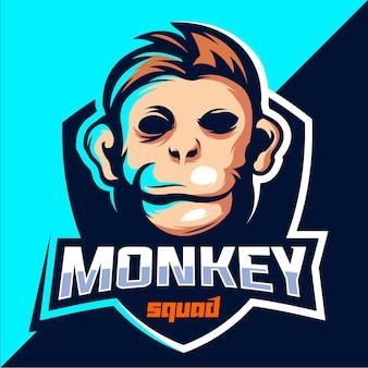 Diseño de logo de monkey squad esport