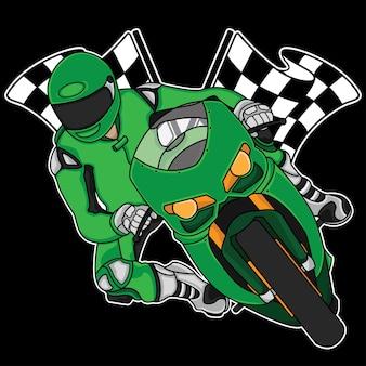 Diseño de logo de moto race.