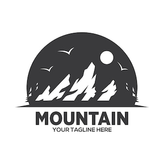 Diseño de logo de mountain adventure