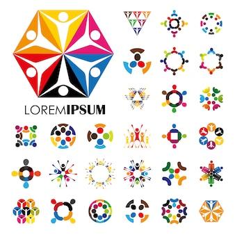 Diseño de logo multicolor
