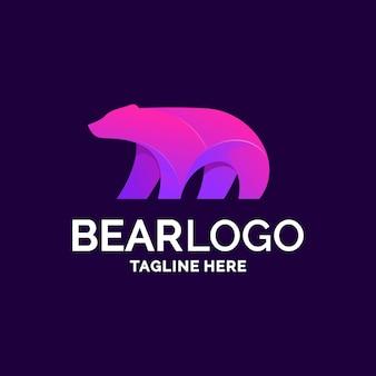 Diseño de logo de oso