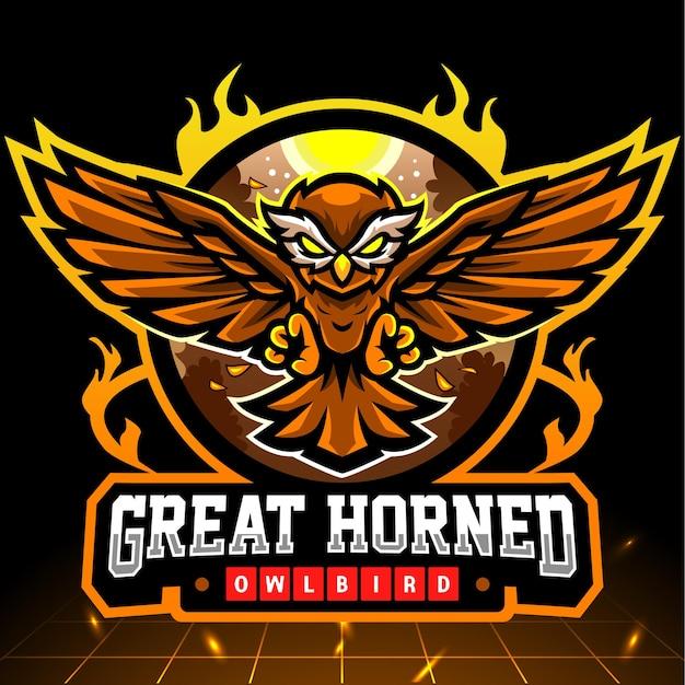 Diseño de logo de owl esport
