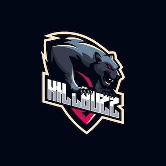 Diseño de logo de pantera negra