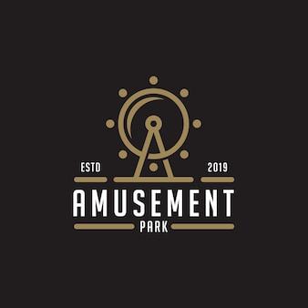Diseño del logo del parque de atracciones inspirado.