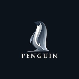 Diseño de logo de pingüino abstracto vector gratis