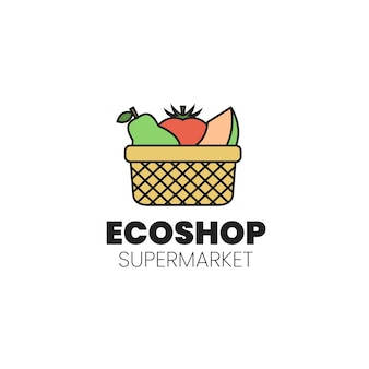 Diseño de logo de supermercado