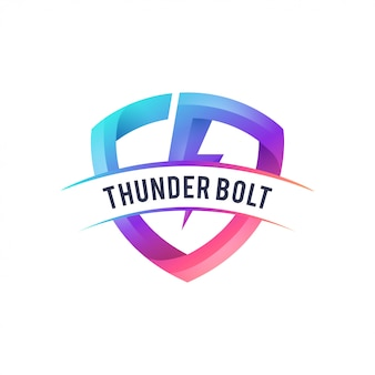 Diseño de logo de thunder