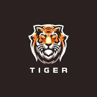 Diseño de logo de tiger sport gaming