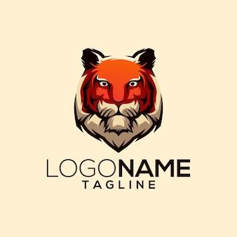 Diseño de logo de tigre