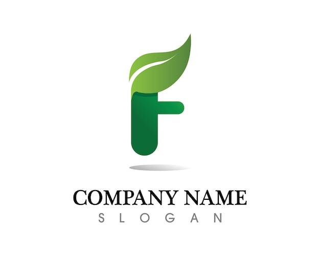 Diseño de logo de vector de hoja de árbol, concepto ecológico.