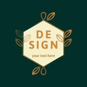 Diseño de logo verde