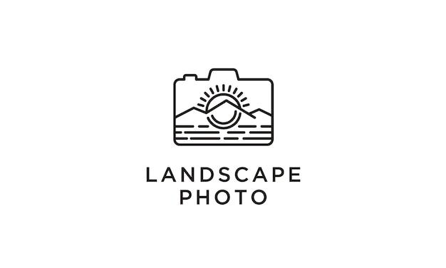 Diseño de logo de viaje / aventura de fotógrafo