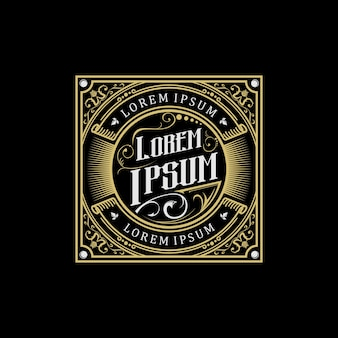 Diseño de logo vintage