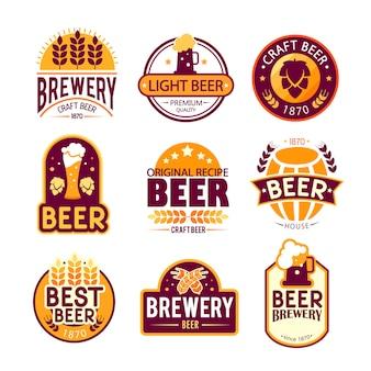 Diseño de logos y emblemas de cervecería.