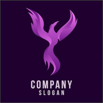 Diseño de logotipo 3d phoenix