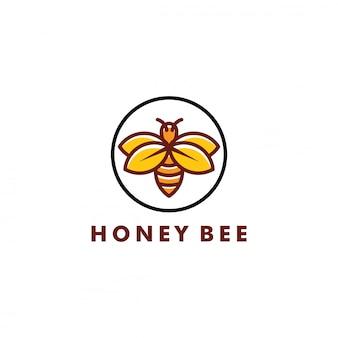 Diseño de logotipo de abeja