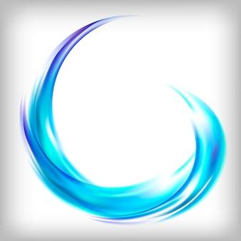 Diseño de logotipo abstracto en azul