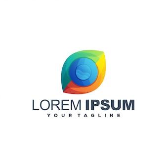 Diseño de logotipo abstracto color mundial