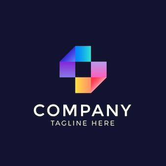 Diseño de logotipo abstracto de color
