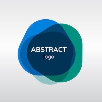 Diseño de logotipo abstracto colorido de la divisa