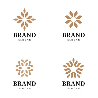 Diseño de logotipo abstracto elegante flor