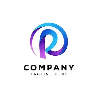 Diseño de logotipo abstracto letra r