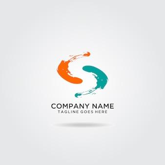 Diseño de logotipo abstracto letra s