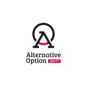 Diseño de logotipo abstracto letra a