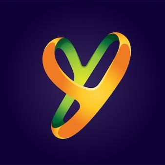 Diseño de logotipo abstracto letra y