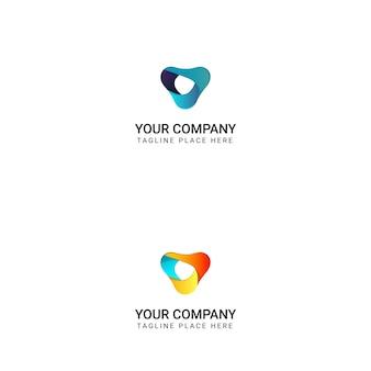 Diseño de logotipo abstracto moderno - vector