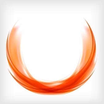 Diseño de logotipo abstracto en naranja