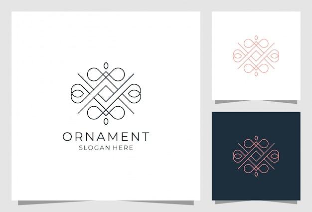 Diseño de logotipo de adorno de lujo