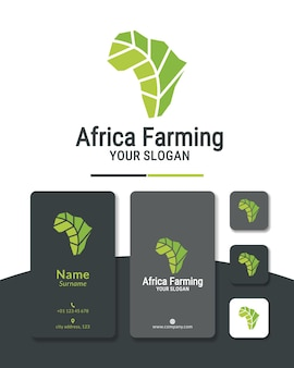 Diseño de logotipo de áfrica verde agricultura agricultura