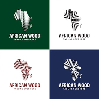 Diseño de logotipo de áfrica