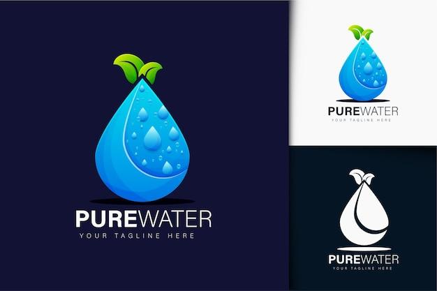 Diseño de logotipo de agua pura