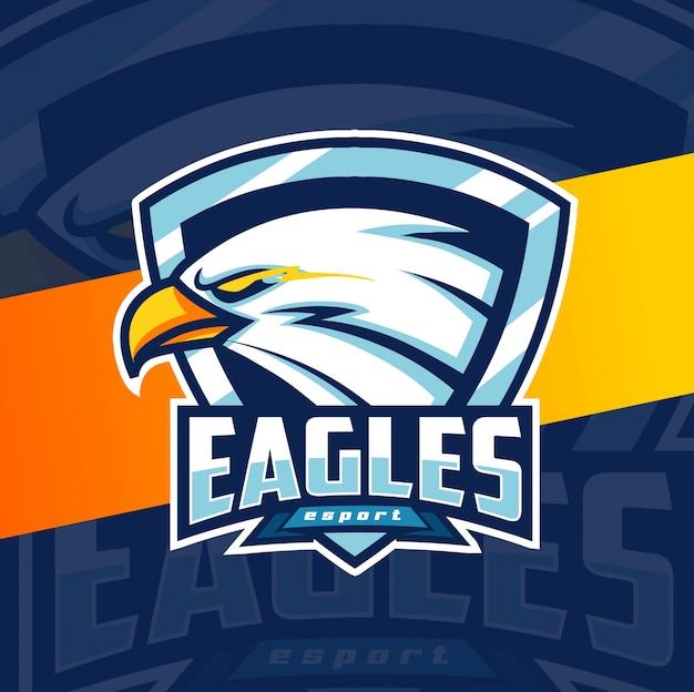 Diseño de logotipo de águila mascota esport