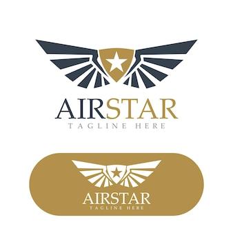 Diseño de logotipo de alas imagen de vector de pájaro halcón