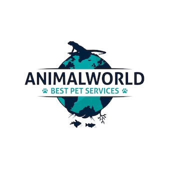 Diseño de logotipo de animal world