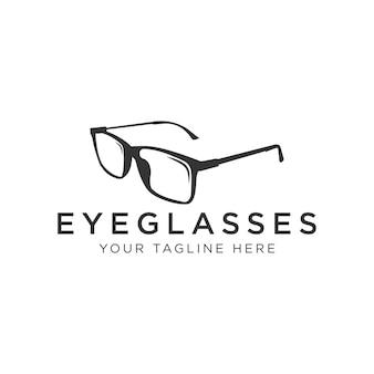 Diseño de logotipo de anteojos: vidrio de ojo con logotipo moderno, simple y limpio