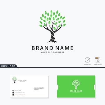 Diseño de logotipo de árbol retorcido