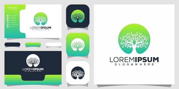 Diseño de logotipo de árbol