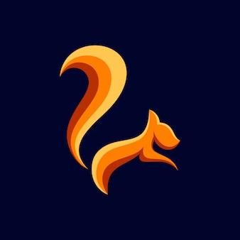 Diseño de logotipo de ardilla