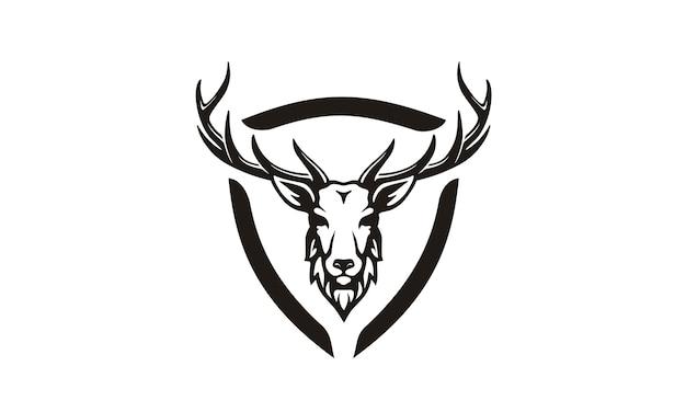 Diseño de logotipo de asta / caza