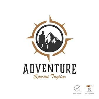Diseño de logotipo de aventura vintage