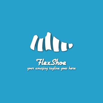 Diseño de logotipo azul de zapato
